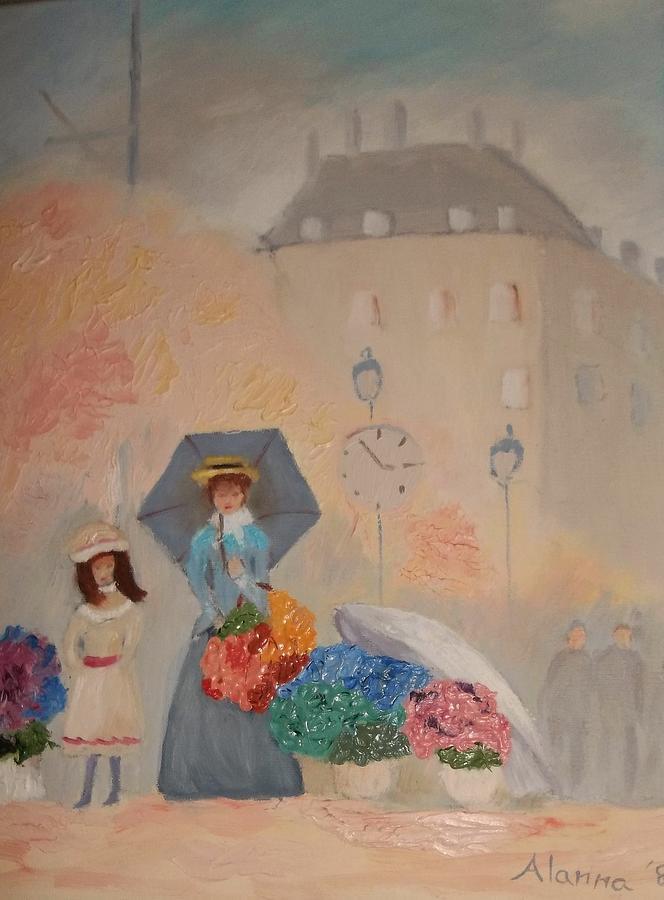 Impressionism Painting - Paris  Yoli By Alanna by Alanna Hug-McAnnally