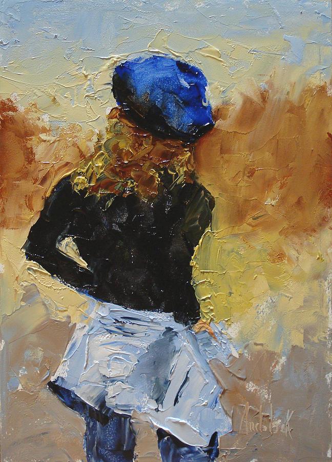 Figurative Painting - Parisian by Barbara Andolsek