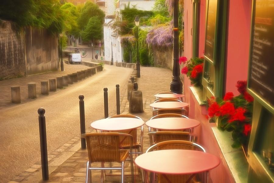Europe Photograph - Parisian Cafe Sunset by Denise Darby
