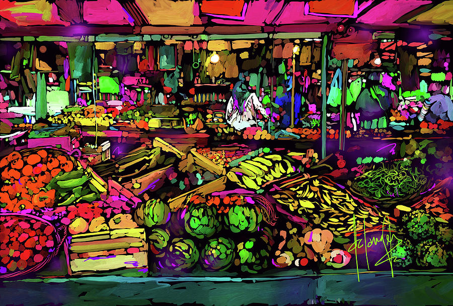 Parisian Market Painting