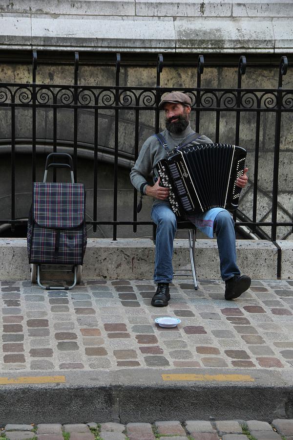 Portrait Photograph - Parisian Musician by Sean Flynn