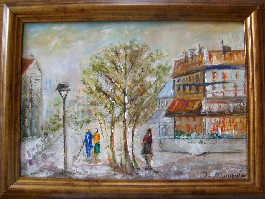 Parisian Walkway Painting by Deirdre McNamara