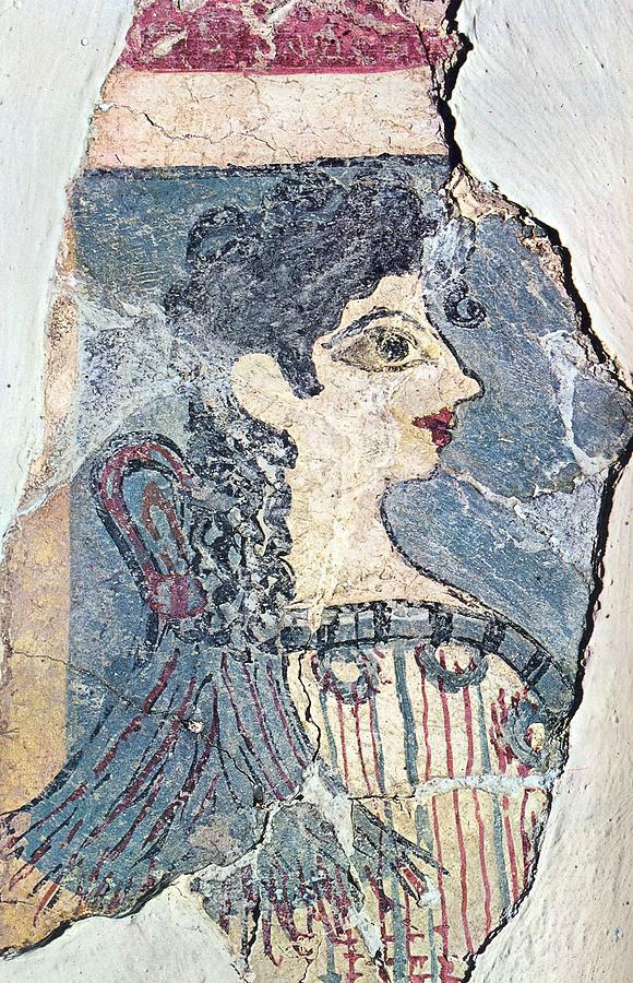 Minoan Fresco Photograph - Parisiene by Andonis Katanos