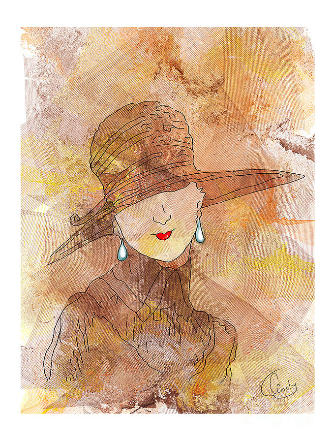 Terre Digital Art - Parisienne 1930 by Degouges Cindy