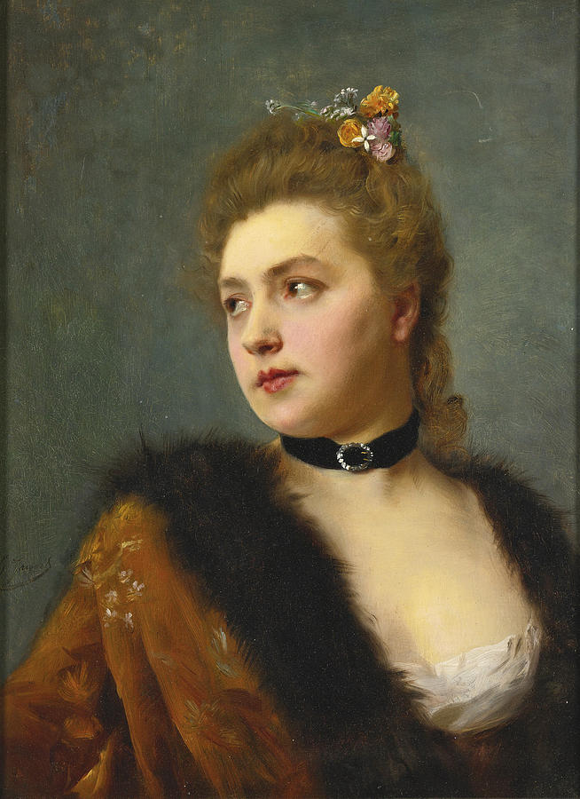 Parisienne Painting by Gustave Jean Jacquet