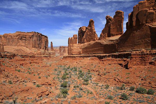 Desert Photograph - Park Avenue Arches National Park Utah by Mike Malandra