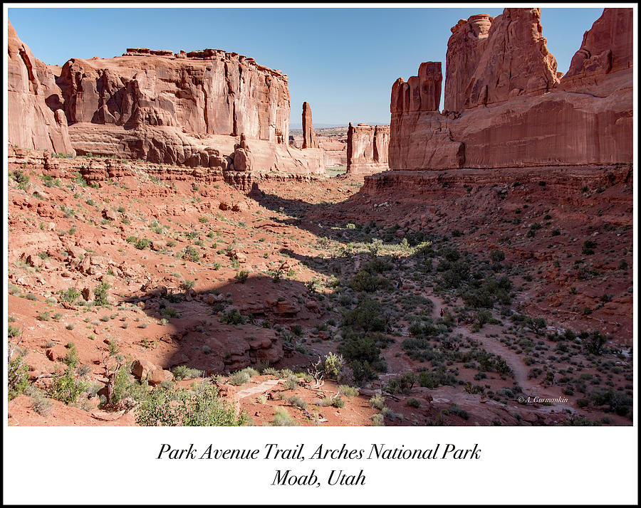 Arches National Park Photograph - Park Avenue Trail, Arches National Park, Moab, Utah by A Gurmankin