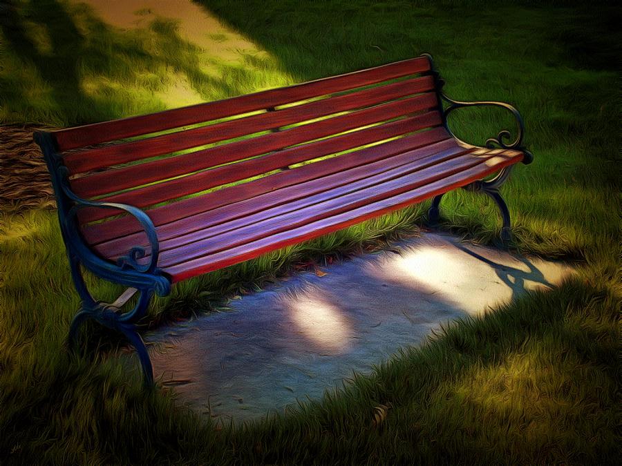 Bench Photograph - Park Bench by Linda Koelbel