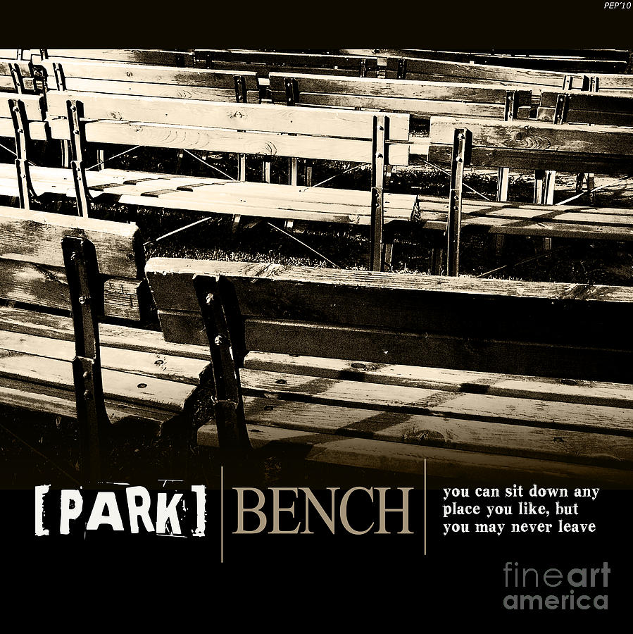 Graphic Design Photograph - Park Bench by Phil Perkins