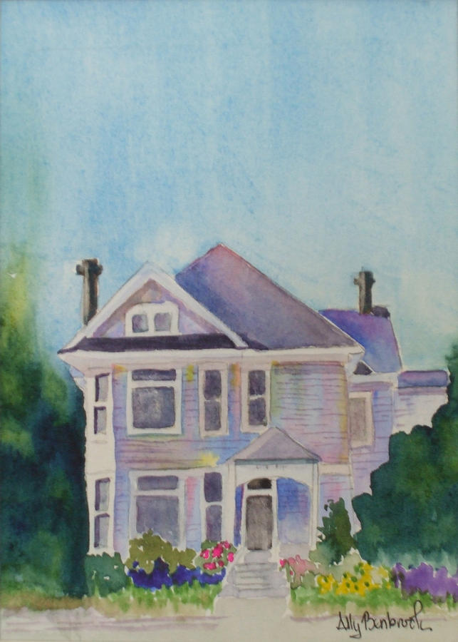 Victorian Painting - Park Blvd Victorian by Ally Benbrook