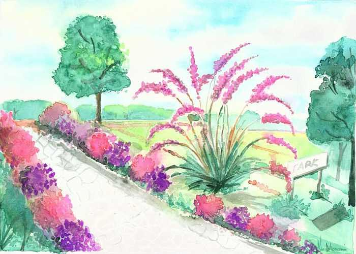 Park Painting - Park by Mousumi Mani