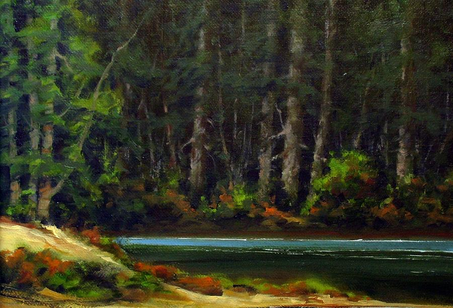 Painting Painting - Park Refuge by Jim Gola