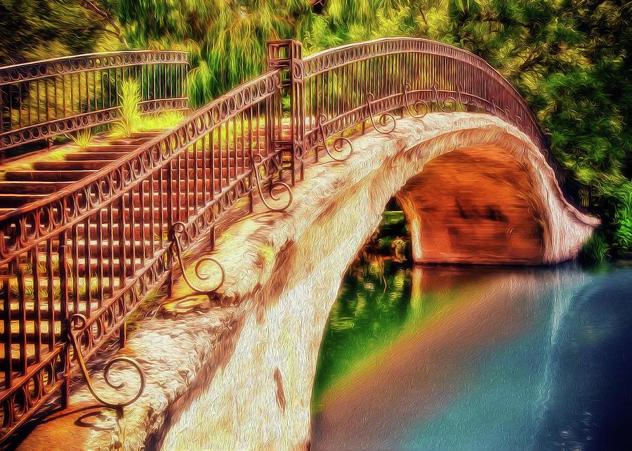 Bridge Photograph - Park Walk Bridge by Jerry Bernard