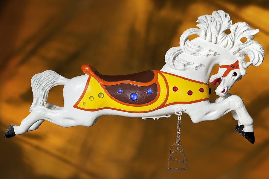Carousel Horse Photograph - Parker Flying Carousel Horse 1 by Kelley King