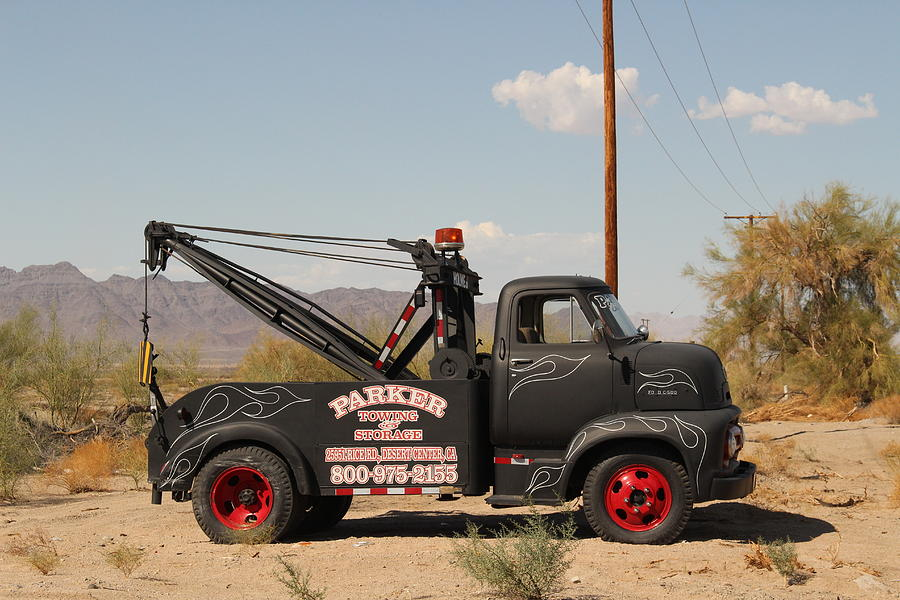 Vintage Tow Truck Photograph - Parker Towing Tow-truck  by Colleen Cornelius