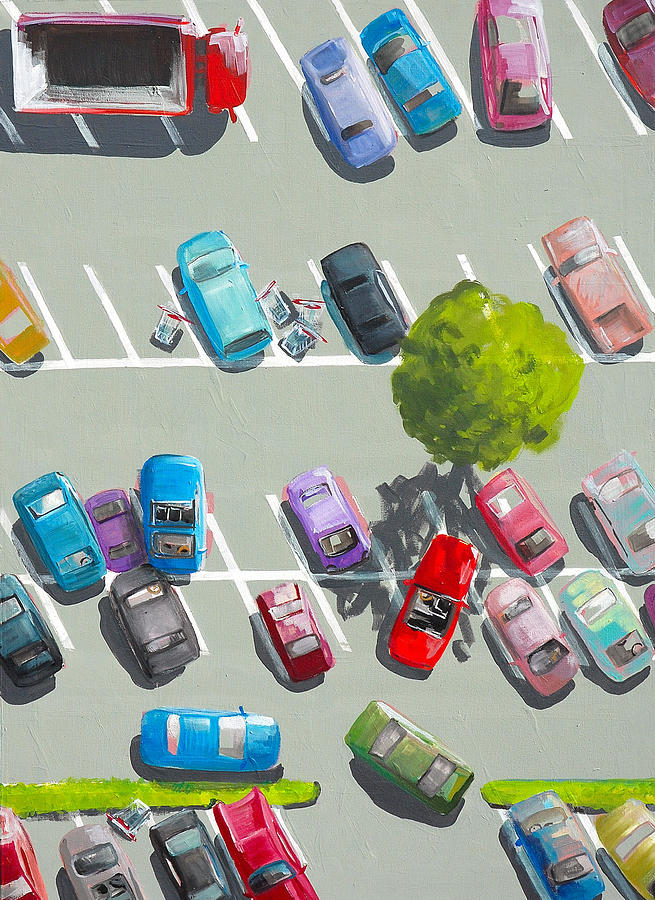 Parking Painting - Parking by Bettina Kusel