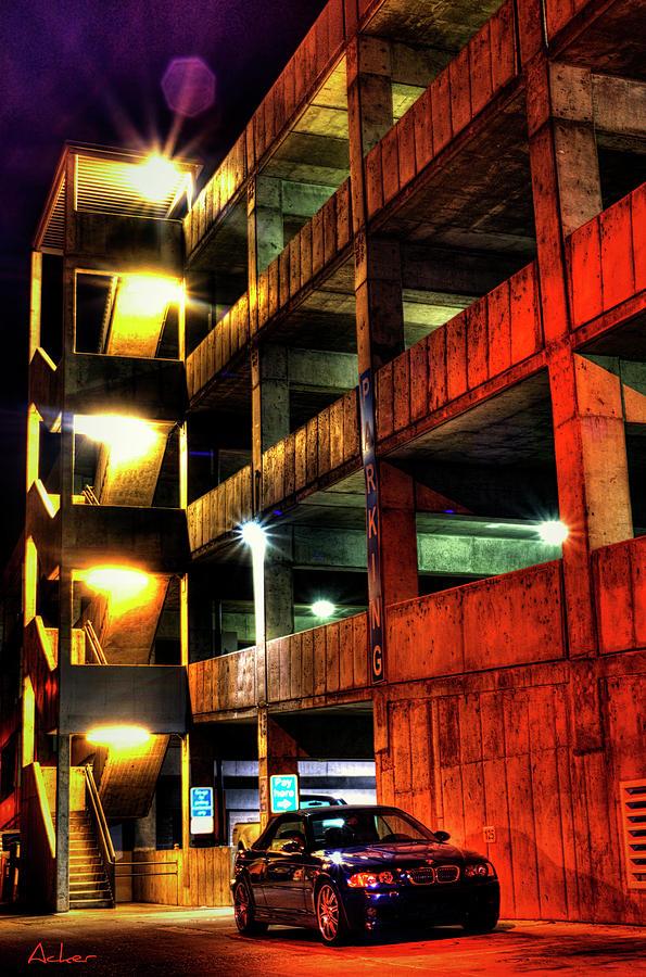Parking Garage Photograph - Parking Garage by Aaron Acker