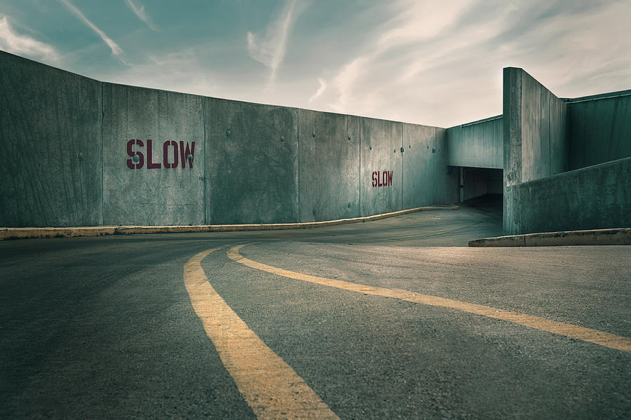Parking Garage Photograph - Parking Garage at the End of the World by Scott Norris