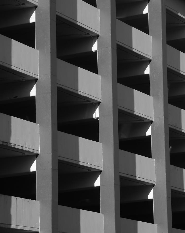 Parking Garage Milwaukee Abstract 2334 by Guntis Lauzums
