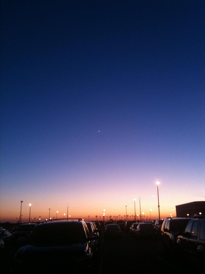 Cars Photograph - Parking Lot Sunset by Jonathan Kotinek