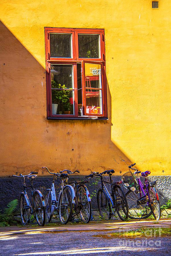 Bicycles Photograph - Parking Place by Roberta Bragan