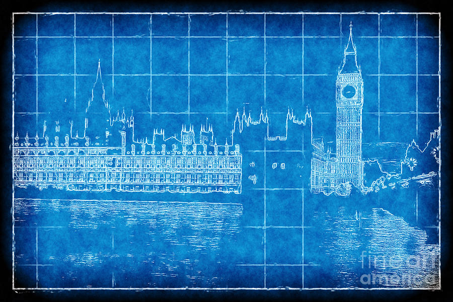 Parliament blueprint digital art by john rizzuto parliament digital art parliament blueprint by john rizzuto malvernweather