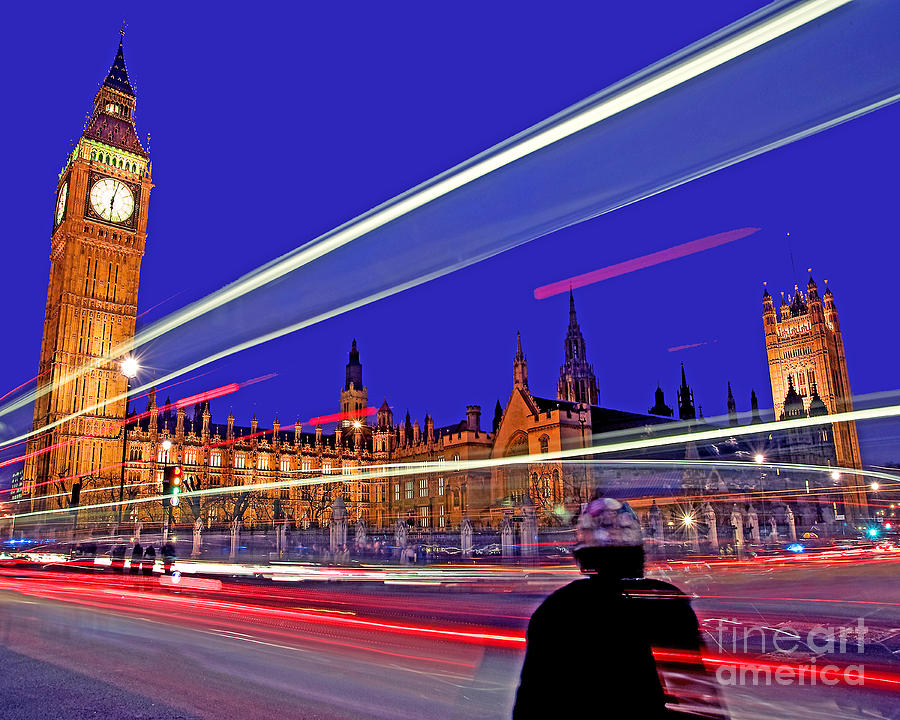 London Photograph - Parliament Square With Silhouette by Chris Smith