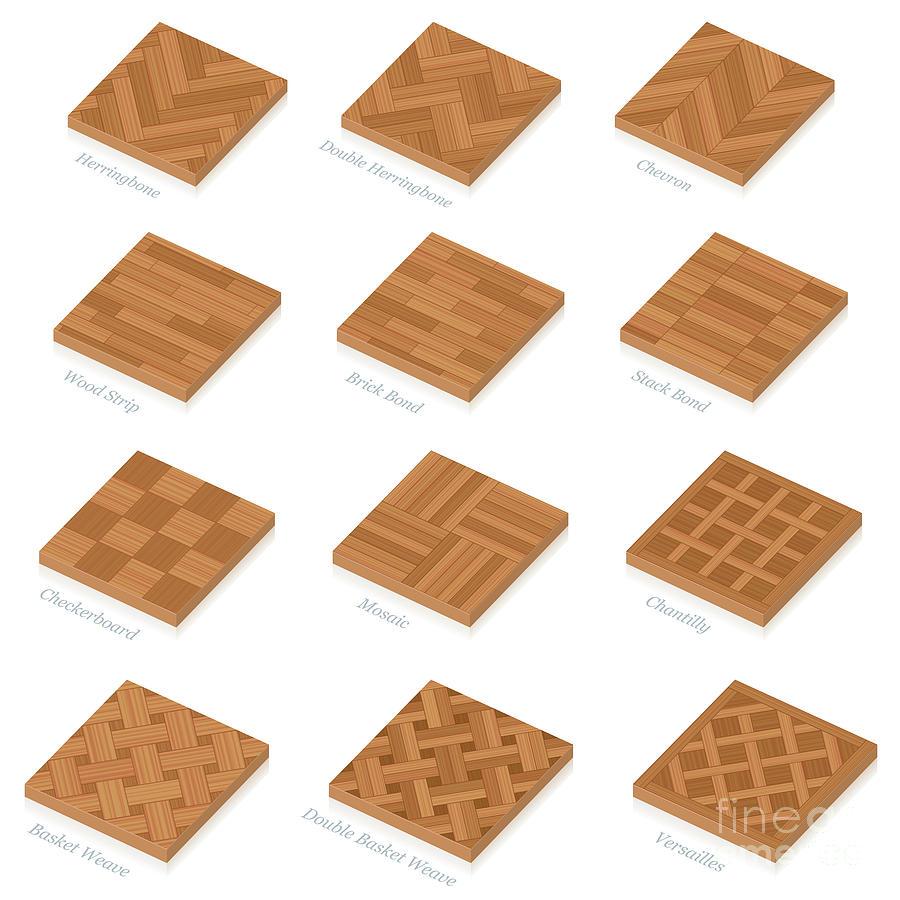 Parquetry Three Dimensional Parquet Floor Plates