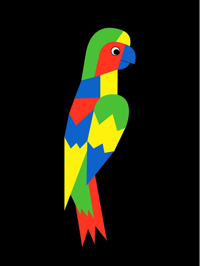 Parrot Digital Art - Parrot by Asbjorn Lonvig