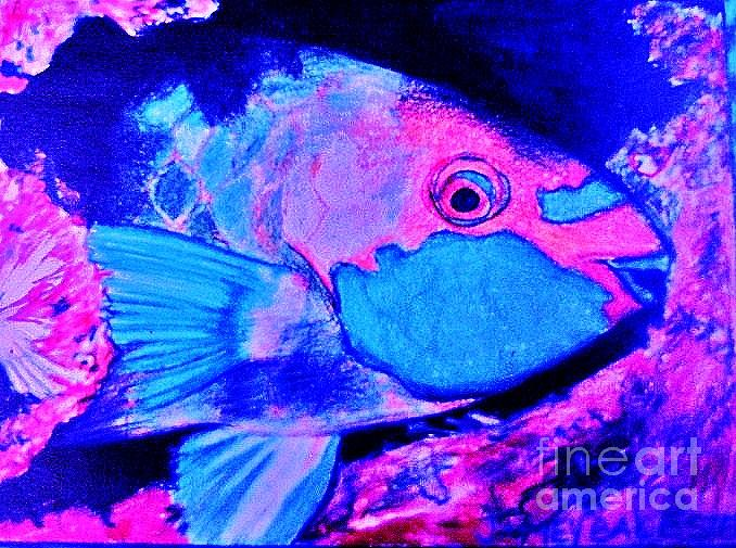 Fish Digital Art - Parrot Fish Variation by Jamey Balester