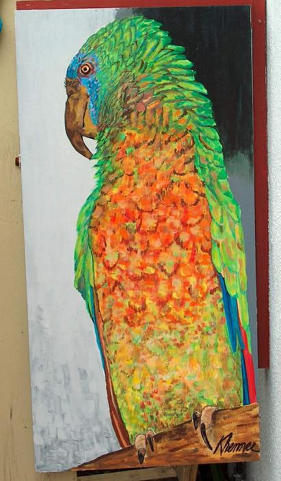 Painting Painting - Parrot by Kathleen  Henner