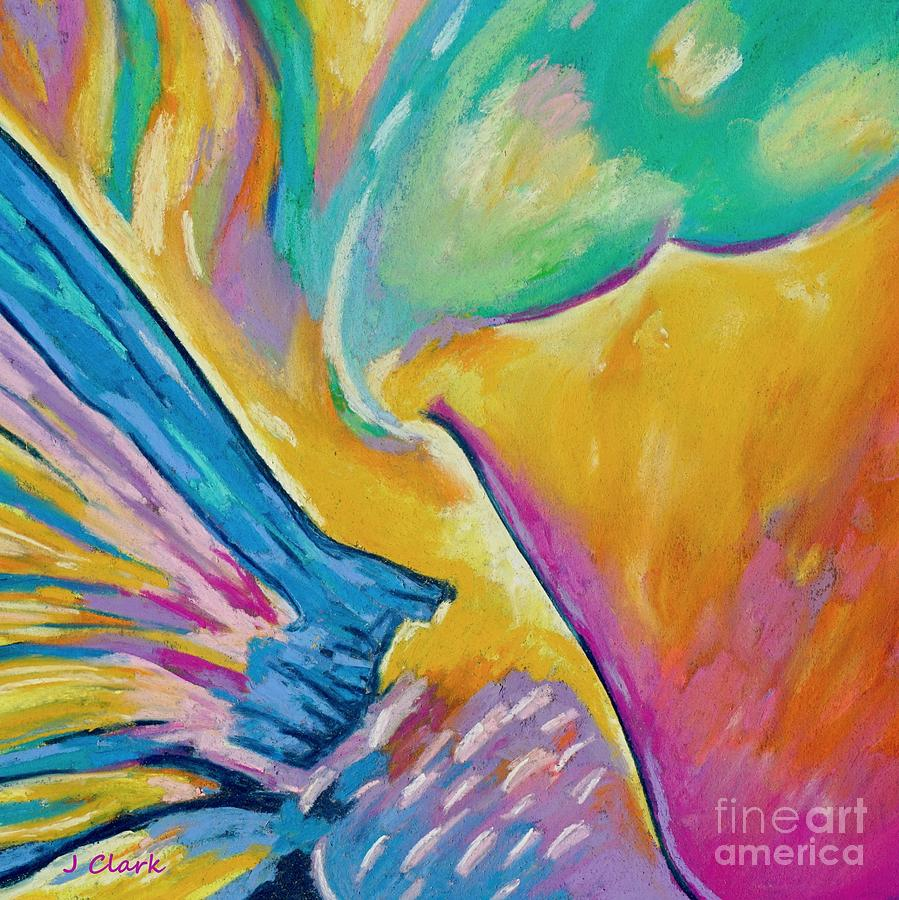 Abstract Painting - Parrotfish 1  Square by John Clark