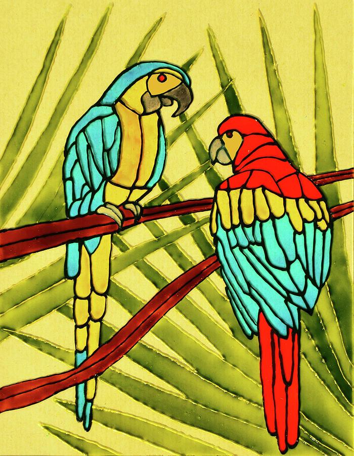 Parrots Painting - Parrots by Farah Faizal