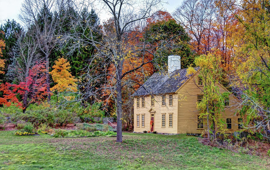 Parson Barnard House in Autumn by Wayne Marshall Chase