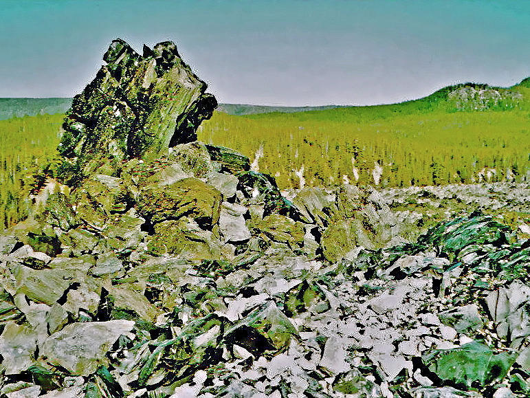 Oregon Photograph - Part Of Large Obsidian Floe In  Newberry National Volcanic Monument, Oregon by Ruth Hager