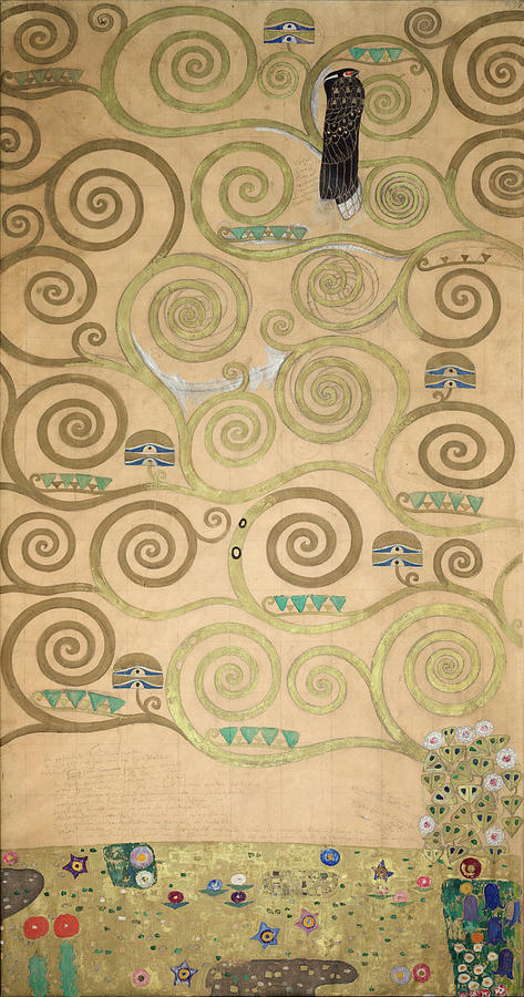 Tree Of Life Painting - Part Of The Tree Of Life, Part 3 by Gustav Klimt