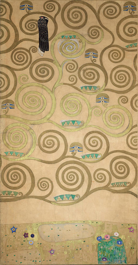 Tree Of Life Painting - Part Of The Tree Of Life, Part 5 by Gustav Klimt