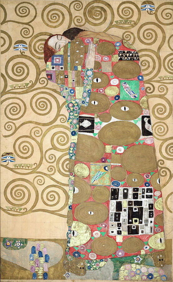 Tree Of Life Painting - Part Of The Tree Of Life, Part 8 by Gustav Klimt