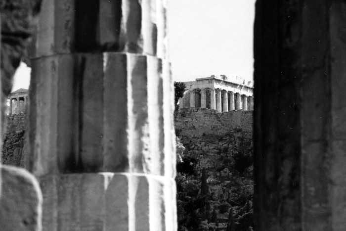 Parthenon Photograph - Parthenon from The Temple of Hephaistos Athens by Susan Chandler