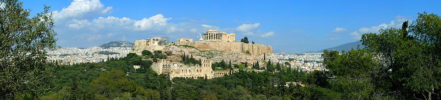 Parthenon The Acropolis Athens Greece Panoramic Photo 70 Degrees Photograph