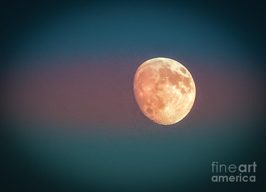 Moon Photograph - Partial Moon by Claudia M Photography