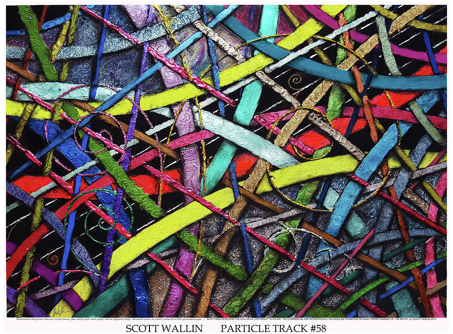 Energetic Painting - Particle Track Fifty-eight by Scott Wallin