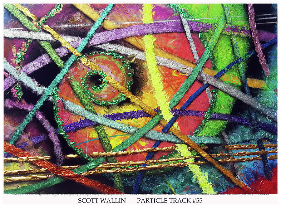 Energetic Painting - Particle Track Fifty-five by Scott Wallin