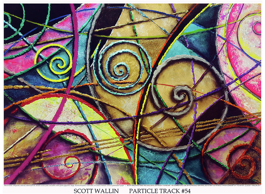 Energetic Painting - Particle Track Fifty-four by Scott Wallin