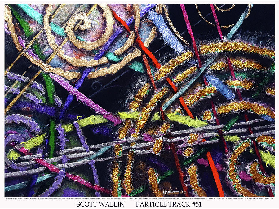 Energetic Painting - Particle Track Fifty-one by Scott Wallin