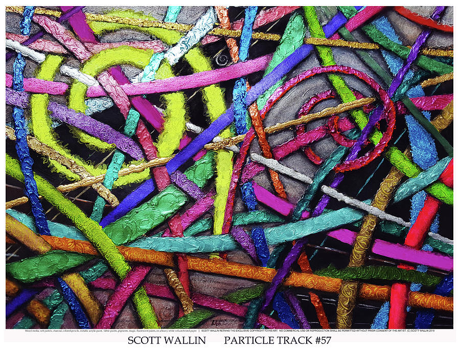 Energetic Painting - Particle Track Fifty-seven by Scott Wallin