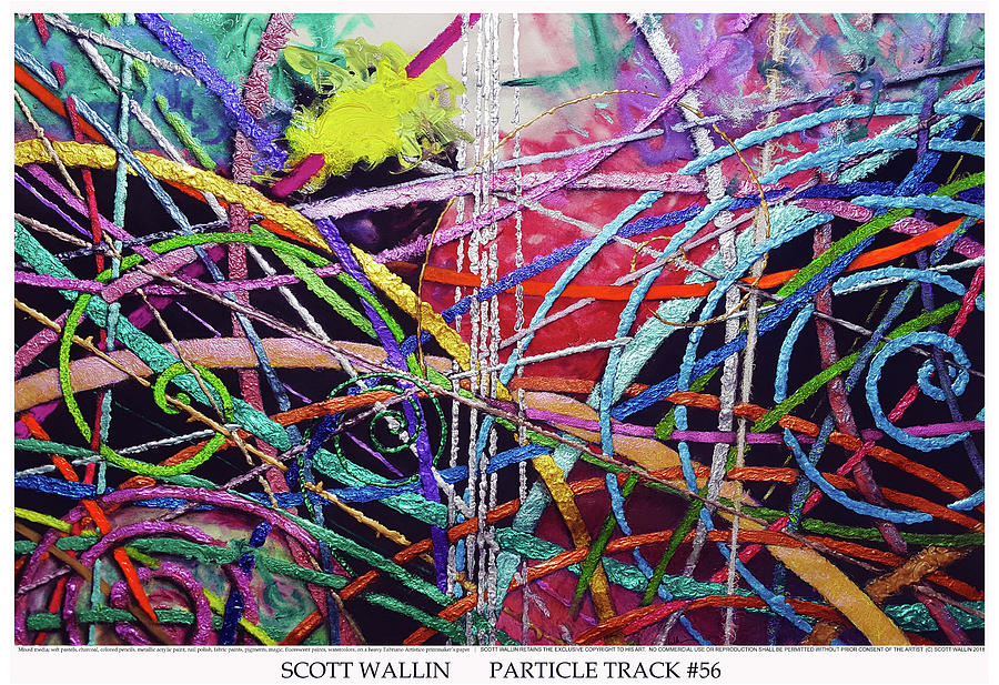 Energetic Painting - Particle Track Fifty-six by Scott Wallin