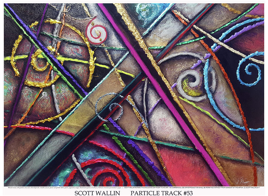 Energetic Painting - Particle Track Fifty-three by Scott Wallin