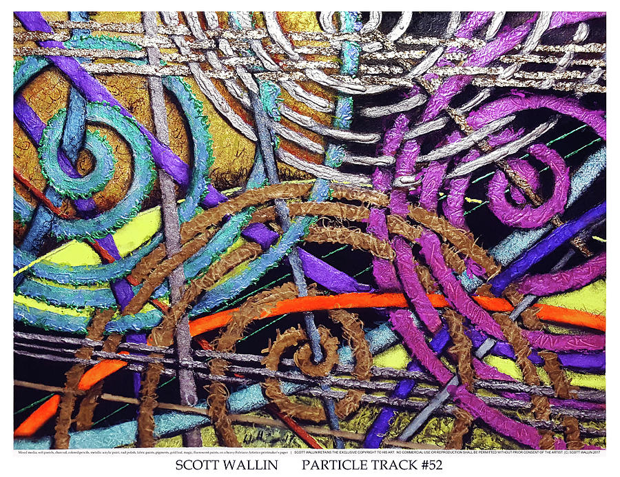 Energetic Painting - Particle Track Fifty-two by Scott Wallin