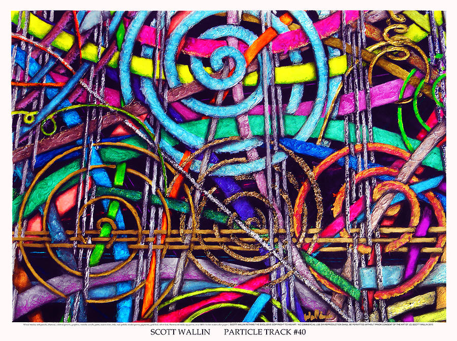 Abstract Painting - Particle Track Forty by Scott Wallin
